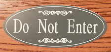 "Engraved ""Do Not Enter"" Plastic Room Door / Wall Sign - FREE SHIPPING"