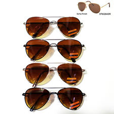 Retro Anti-Glare Driving Lens Sunglasses w/Sports Metal Frame Spring Hinge UV400