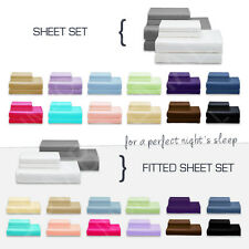 NEW SINGLE,KING Single,DOUBLE,QUEEN & KING BED SHEET Set-FITTED SHEET Set