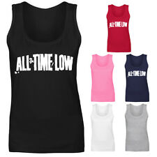 Womens All Time Low Rock Music Logo Vest Tank Top NEW UK 8-18