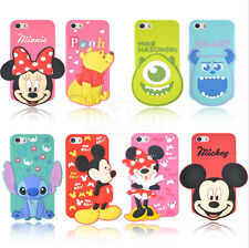 New arrival 3D cute cartoon model silicon material Cover case for iphone 5 5S 5C
