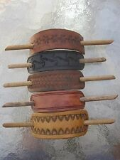 Genuine Leather Slide Stick Ponytail Holder Barrette Your Choice Made in USA New