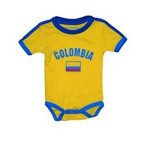 COLOMBIA BABY ONE-PIECE INFANT KIDS SOCCER FOOTBALL FUTBOL FLAG T-SHIRT GIFT
