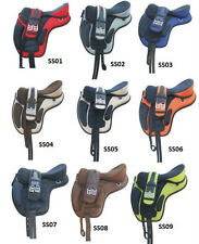 "NEW RSI Synthetic treeless Saddle Velcro 16"" 17"" 18"""