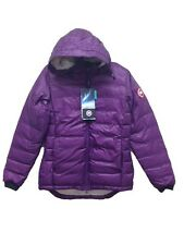 Canada Goose Ladies small Camp Hooded Jacket Arctic Dusk 5055L New Down Purple