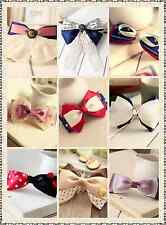 List1 Top Quality New Sorted Cute Hair Bows Lace Girls Bobby Pins Clips Hairware