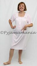Pyjamas Ladies Sleepwear Polycotton Short Sleeve Nightie Pink (sz 12-22) Sz 8 10