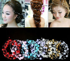Aesthetic Pearl Studded Bridal Headpiece Fahion Bridal hair wedding Accessories