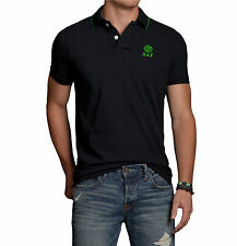 Abercrombie & Fitch Men Skylight Mountain Moose Pique Polo Shirt - Free $0 Ship