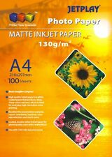JETPLAY A4 GLOSS AND MATTE PHOTO PAPER IN VARIOUS WEIGHTS 130G 180G 190G 230G