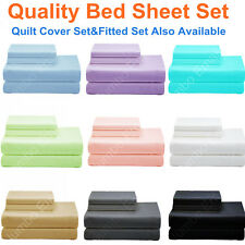 NEW SINGLE,KS,DOUBLE,QUEEN&KING BED SHEET Set-FITTED SHEET Set-QUILT COVER Set