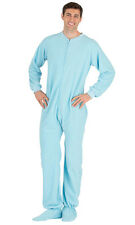 Footed Pajamas - Baby Blue Adult Fleece