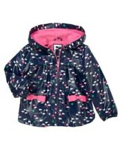 GYMBOREE STRIPES & ANCHOR NAVY w/ FISHES A/O HOODED RAINCOAT JACKET 6 12 NWT
