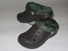 New Crocs BAYA FLEECE LINED Winter Clog Shoes SZ 8/9 10/11 Espresso/Forest
