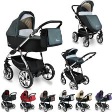 BEXA CHROME CHASSIS 3in1 BABY TRAVEL SYSTEM ISOFIX BASE OPTIONAL 2 YRS WARRANTY