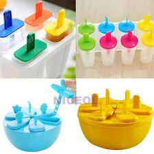 Ice Cream Pop Frozen Mold Popsicle Maker Lolly Icy Pole Mould Tray DIY NI5L