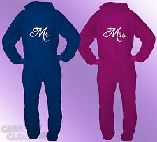 2 x ONESIES MR & MRS Wedding gift his and hers matching quality 80% COTTON
