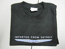 NEW Imported From Detroit T- Shirt with Chrysler Wings & Grill ~ Black