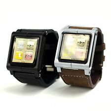 Luxurious Leather Multi-Touch Wrist Strap Watch Band for iPod Nano 6 Generation
