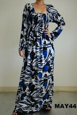 Women's Casual Day Beach summer Square Neck Long Sleeve Party Maxi Dress M-3XL