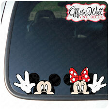 """Mickey and Minnie Mouse Disney """"HELLO"""" Color Vinyl Car Decal"""