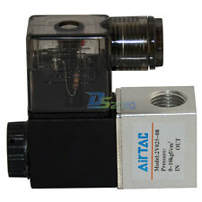 """2 way 2 position Solenoid Valve 1/4"""" NPT Water Air Oil Pneumatic Electric DC/AC"""