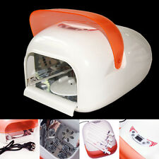 Nail Art 220V/110V Auto 36W Sensor Curing UV Gel Lamp Fan Dryer & 4 Light Bulb