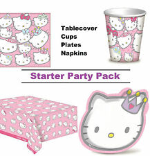 Hello Kitty Starter Party Pack for 8 - 48 Guests inc. Cups, Plates, Napkins