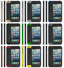 Brushed Titanium Metal Skin Sticker For iPhone 5 5s Two Tone Wrap Case Decal