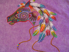 YOUTH INDIAN HORSE HEAD SHIRT FEATHERS Southwest Native American Navajo Hopi