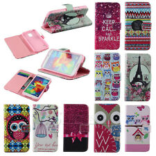 Hot Sale Flower Leather Flip Wallet Pouch Skin Case Cover For Samsung For Apple