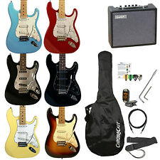 New Electric Strat Guitar Beginner Starter Package Beginners Pack COOL COLORS