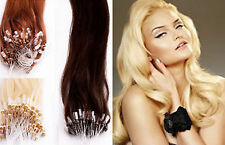 """20"""" inch 1 Gram/Strand EASY LOOP MICRO RING 100% HAIR EXTENSIONS FAST DELIVERY"""