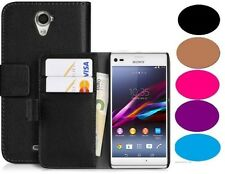 PREMIUM PU LEATHER WALLET CASE COVER FOR SONY XPERIA E1