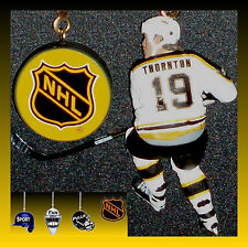 NHL BOSTON BRUINS FIGURE & LOGO GOALIE MASK OR HOCKEY PUCK CEILING FAN PULLS