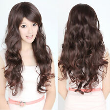 Womens Lady Girls Curly Wavy Long Full Wigs Hair Party Cosplay Party Fashion Wig