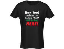 """Custom """"YOUR TEXT"""" Personalised Womens T-Shirt (12 Colours)"""