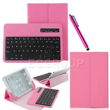 "For 7-inch Android IOS Tablet PC Pink 7"" Universal Bluetooth Keyboard Case Cover"