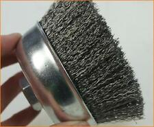 65MM STEEL WIRE CUP BRUSH, ANGLE GRINDER BRUSH, ZINC PLATED RUST REMOVING
