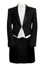 MJ-75 MENS BLACK EVENING WHITETIE TAILS 2PC SUIT DRESS ORCHESTRA  MANSION HOUSE