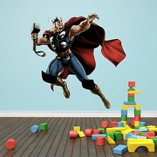 Wall art Graphic AVENGERS ASSEMBLE THOR WITH HAMMER Printed Vinyl Sticker