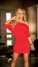 Short Sleeves Billow Mini Dress - Red, Black, Blue or White - AM:PM by Espiral