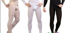Manview Sheer Long Johns Bottoms Low Rise Sexy Mens Underwear Free Shipping USA