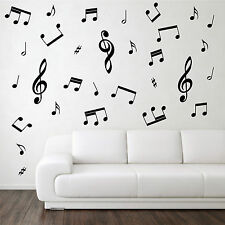 Individual Music Notes Pack, Vinyl Wall Art Sticker, Home, Kitchen, Bedroom