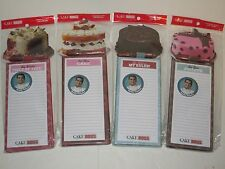 Cake Boss Magnetic Memo Pad w/ Gel Pen - Grocery List, Messages, Notes, Kitchen