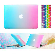 "Rainbow Rubberized hard case keyboard cover Macbook Pro Air Retina 11 13 15""inch"