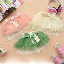 Baby Kids Girls Dancewear Toddler Chiffon Tutu Bow Pettiskirt Princess Skirt NEW