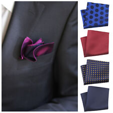 Savile Row Mens 100% Silk Handkerchief/ Pocket Square In 10 Colours & Styles