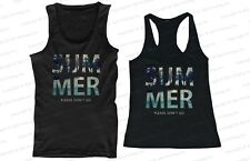 His and Hers Matching Couple Beach Tank Tops - SUMMER Please Don't Go