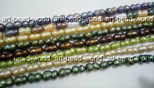 variations color 8*14mm baroque twins shape freshwater pearl bead loose necklace